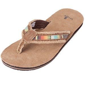6ae3f9bf2e68d Sanuk Shoes - Men s Sanuk Frayed So Flip Flops NWOT 12
